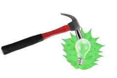 Sauvegarder le futur concept d'énergie d'eco, isolat. Photos libres de droits