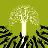 Sauvegardez l'arbre de sauvegarde d'environnement Image stock