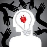 Sauvegardez l'idée d'énergie Photographie stock libre de droits
