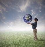 Sauvegardez le concept du monde Images libres de droits