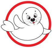 Sauvegardez le sceau à fourrure blanche Image libre de droits