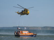 Sauvetage aéro-maritime Images stock