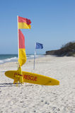 Sauvetage australien de vague déferlante de plage Photo stock