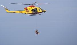 Sauvetage d'air marin Photographie stock libre de droits