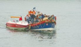 Sauvetage de bateau de sauvetage chez Whitby. Image libre de droits