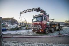 Sauvetage de bateau submergé Photographie stock