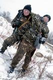 Sauvetage de blesser du soldat Photo stock