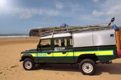 Sauvetage de côté de plage Images libres de droits
