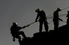 Sauvetage de corde Images stock