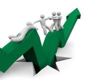 Sauvetage de récession Image libre de droits