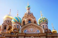 sauveur d'église de sang renversé St Petersburg, Russie Images stock