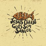 Sauveur de fils du ` s de Jesus Christ God lettrage illustration libre de droits