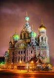 Sauveur sur la cathédrale de sang à St Petersburg, Russie Photo libre de droits