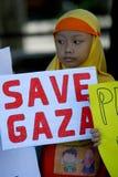 Sauvez gaza Photographie stock libre de droits