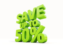 Sauvez jusqu'à 50% illustration stock