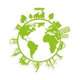 sauvez l'écologie de planète du monde Images stock