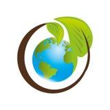 sauvez l'écologie de planète du monde Photo stock