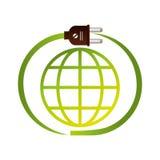 sauvez l'écologie de planète du monde Photos stock