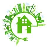 Sauvez l'icône d'énergie illustration libre de droits