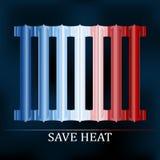 Sauvez l'illustration de radiateur colorée par chaleur Images stock