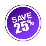 Sauvez l'offre 25 Illustration Stock