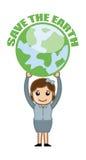Sauvez la bannière de la terre avec la terre Photo stock