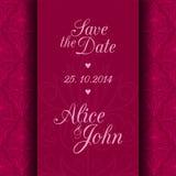 Sauvez la carte d'invitation de date Photographie stock