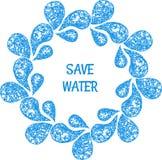 Sauvez la carte de l'eau Photographie stock