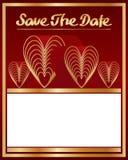 Sauvez la décoration de l'amour neuf de date Photographie stock libre de droits