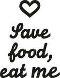 Sauvez la nourriture, mangez-moi disant illustration de vecteur