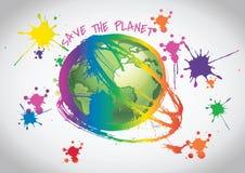 Sauvez la planète Images libres de droits