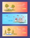 Sauvez la planète - ensemble d'illustrations plates modernes de vecteur de style de conception illustration de vecteur
