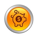 Sauvez le bouton d'icône de concept d'argent illustration de vecteur
