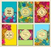 Sauvez le cadre fleuri de date Facile à éditer Perfectionnez pour l'invitation Image libre de droits