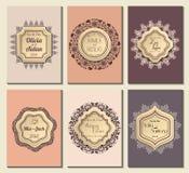 Sauvez le cadre fleuri de date Facile à éditer Perfectionnez pour l'invitation Image stock