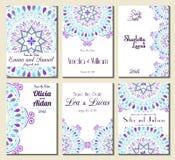 Sauvez le cadre fleuri de date Facile à éditer Perfectionnez pour l'invitation Photos stock
