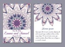 Sauvez le cadre fleuri de date Facile à éditer Perfectionnez pour l'invitation Images libres de droits