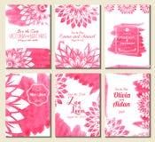 Sauvez le cadre fleuri de date Perfectionnez pour des invitations et annoncez Photographie stock