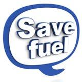 Sauvez le carburant illustration stock