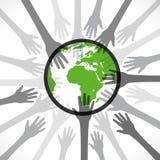 Sauvez le cocnept de la terre Photos libres de droits