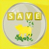 Sauvez le concept de bouton d'argent Illustration illustration de vecteur