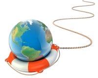 Sauvez le concept de la terre 3d Photo libre de droits