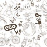 Sauvez le concept de la terre. L'écologie gribouille l'icône illustration stock