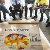 Sauvez le concept de protection de conservation d'environnement de la terre Photos stock