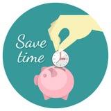 Sauvez le concept de temps illustration stock
