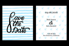 Sauvez le design de carte d'invitation de date Photographie stock libre de droits