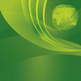 Sauvez le fond de vert de concept de planète Photo stock