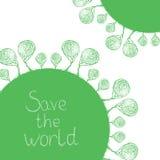 Sauvez le monde illustration de vecteur