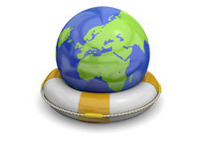 Sauvez le monde - 3D Image stock