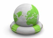 Sauvez le monde - 3D illustration stock